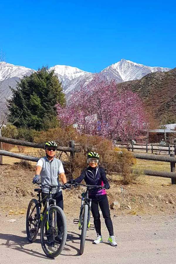 Bici de montaña pareja